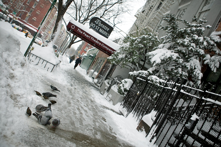f1av20551 East Village Snow, New York City snow nyc east village