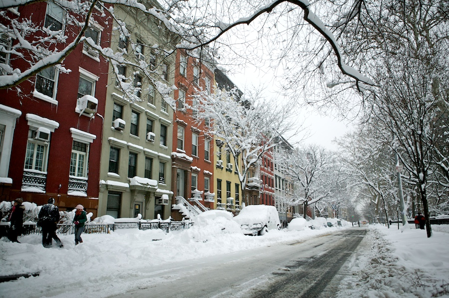 f1av206511 East Village Snow, New York City snow nyc east village