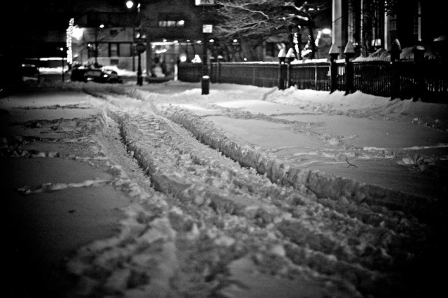 New York City - East Village Snow - photo © Gregg Greenwood