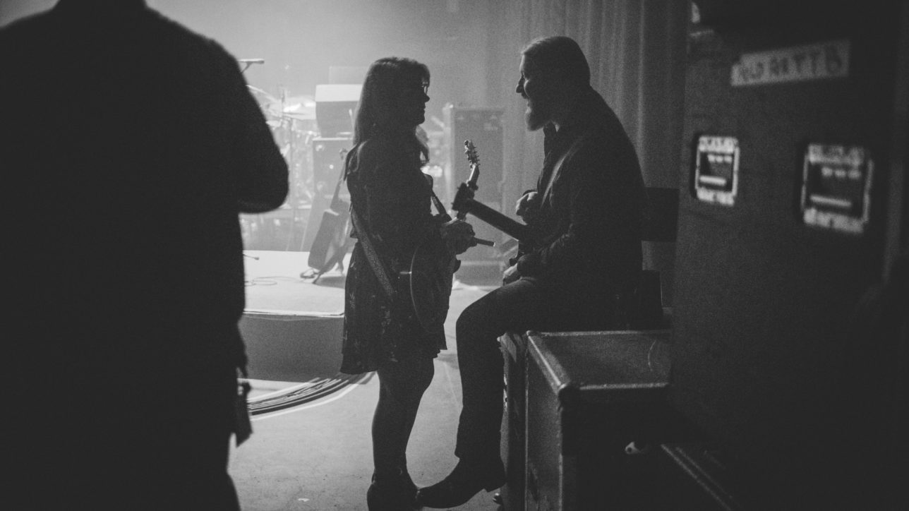 Susan Tedeschi and Derek Trucks before getting onstage at The Capitol Theatre