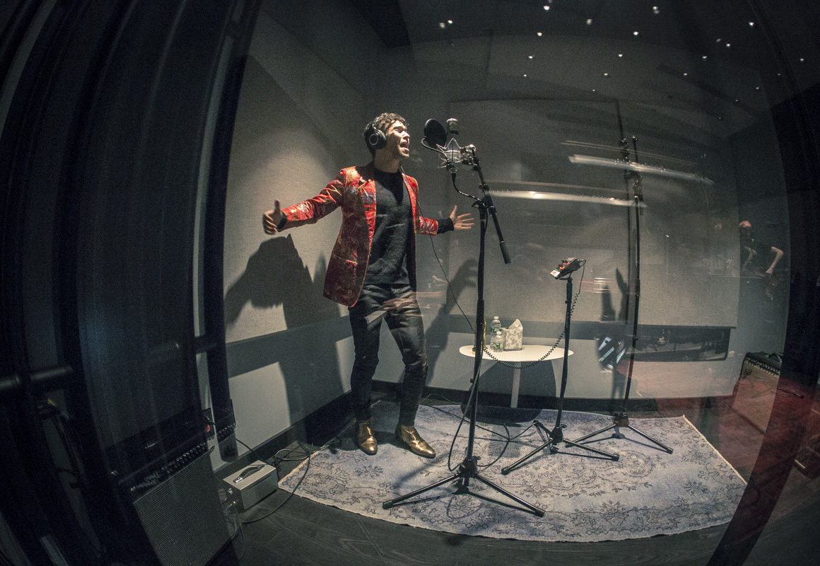 Max Amp Gnash Reocding At The Spotify Studios In Nyc